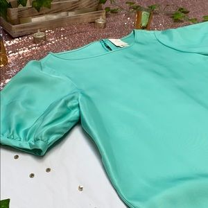 kate spade Dresses - Kate spade teal silk dress